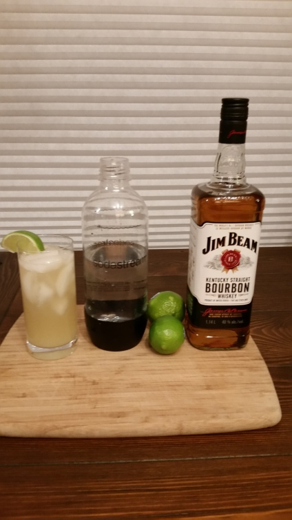 bourbon lime rickey