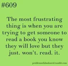 just won't read