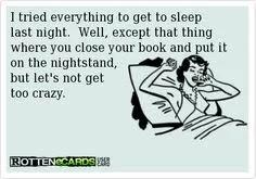 sleep and books